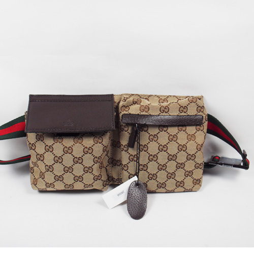 Gucci Waist Medium Bag 285566 Coffee
