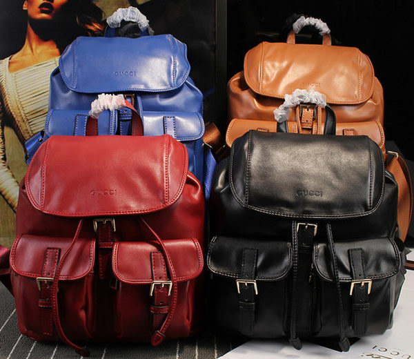 GUCCI Calfskin Leather Backpack 385848