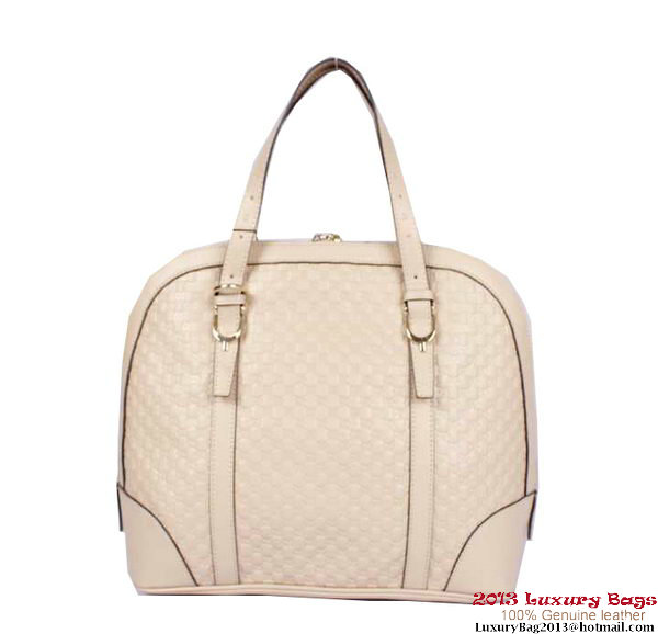 Gucci Nice Small Microguccissima Top Handle Bag 309617 OffWhite