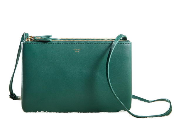 Celine mini Trio Crossbody Messenger Bag C3001 Dark Green