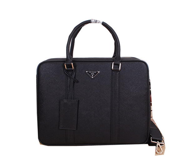 Prada Original Leather Briefcase P8686 Black