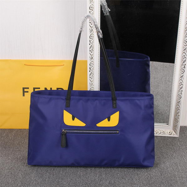 Fendi Bag Bugs Travelling Bag Nylon Fabric FD2977 Blue