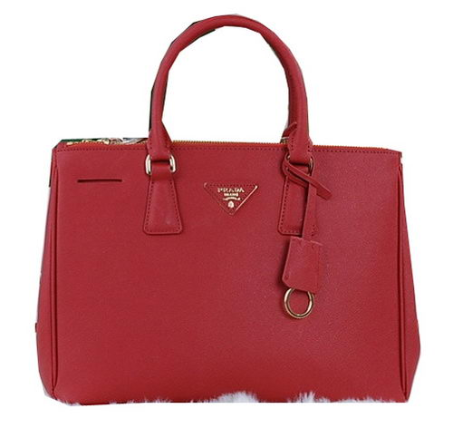 Prada Saffiano Calfskin Leather Tote Bag PBN2274 Red
