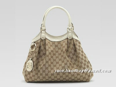 Gucci Sukey Medium GG Fabric Tote Bag 211944