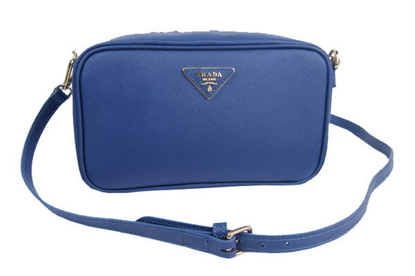 Prada Saffiano LUX Shoulder Bag BP0542 Royalblue