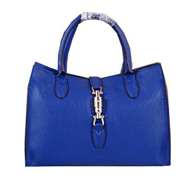 Gucci Jackie Original Leather Top Handle Bag 363529 Blue