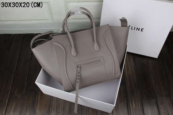 Celine Luggage Phantom Tote Bag Ferrari Leather 3341 Grey