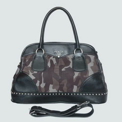 Prada Tote Bags Gaufre Calf Leather 8697A Army Green
