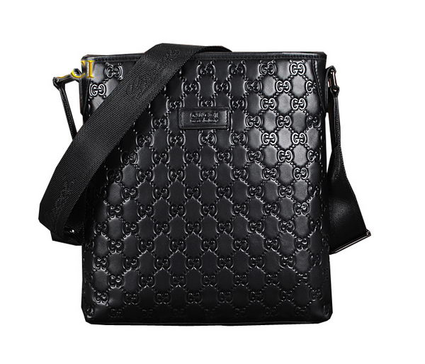 Gucci Guccissima Messenger Bag 89364 Black