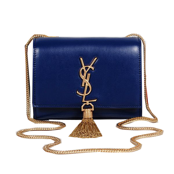 Yves Saint Laurent MINI Monogramme Cross-body Shoulder Bag Royal