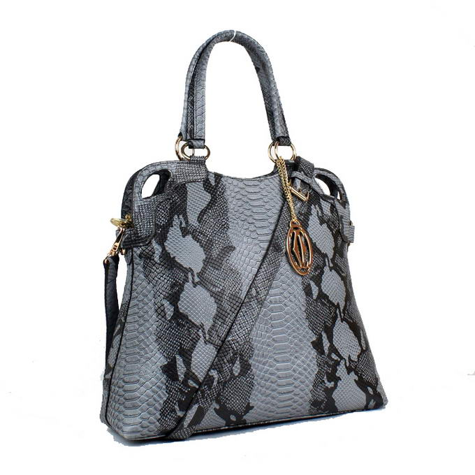 Cartier Snake Veins Leather Shoulder Bag 1000642 Blue