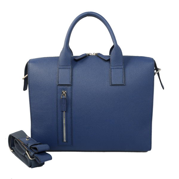 Hermes Mens Briefcase Calf Leather H1705 RoyalBlue