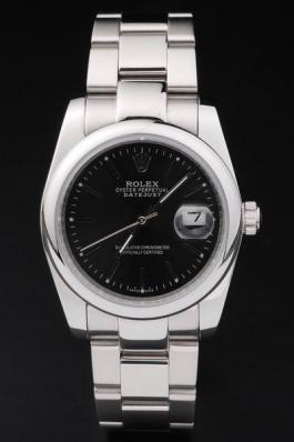 Rolex Datejust Swiss Mechanism Silver&Black Watch-RD2381