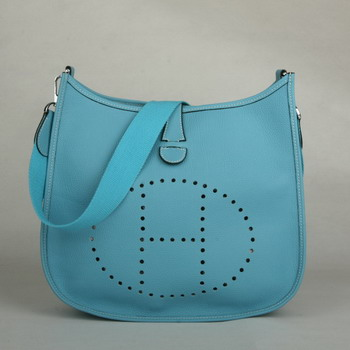 Hermes Evelyne Bag Blue 1032