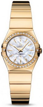 Omega Constellation Polished Quarz Mini Watch 158637C