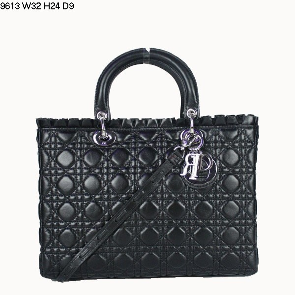 Christian Lady Dior Double-Strap Bag 9613 Black