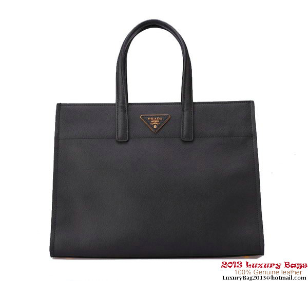 Prada Soft Saffiano Leather Tote Bag BN2603 Black