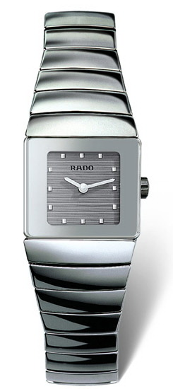Rado Sintra Series Platinum-tone Ceramic Quartz Ladies Watch-R13334122