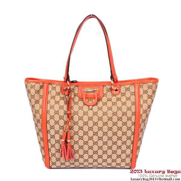 Gucci Derby Canvas Shoulder Bag 309588 Orange