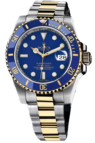 Rolex Submariner Series Stainless Steel and 18k Yellow Gold Oyster Bracelet Mens Wristwatch 116613-BLSO