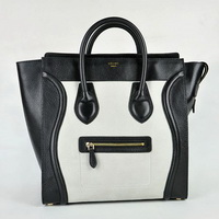 Celine Juboo Woman Handbag Blacl with White
