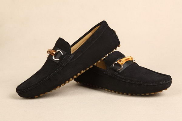 Gucci Suede Leather Casual Shoes GG0396 Black