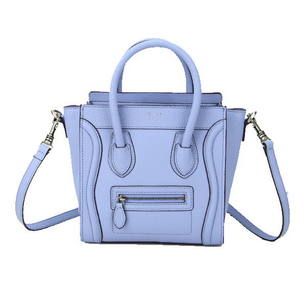 Celine Luggage Nano Bag Grainy Leather CL88029 Light Blue