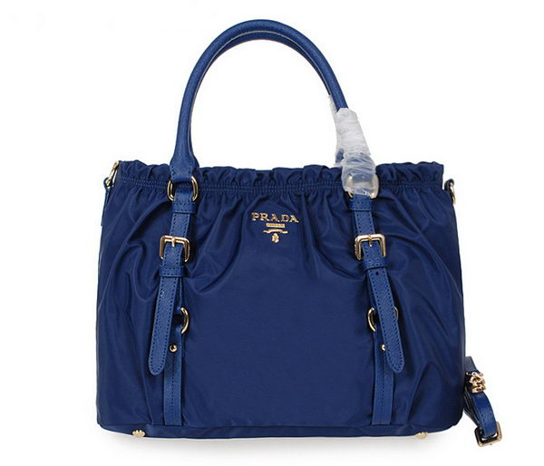 Prada Tessuto Nylon Shopper Tote Bag BN42589 Blue