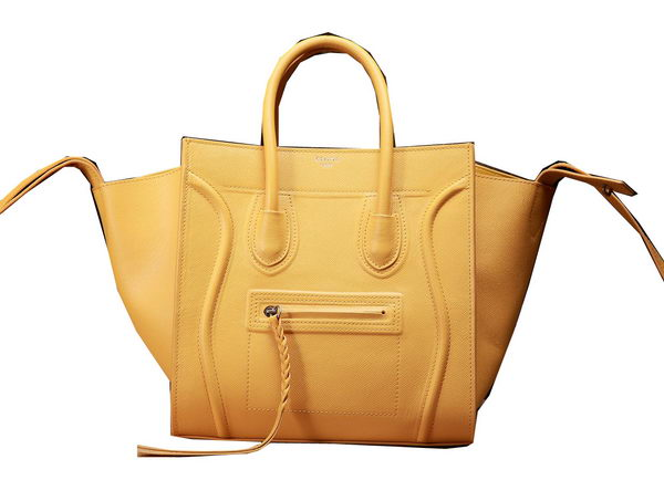 Celine Luggage Phantom Shopper Bags Original Leather 3341 Yellow