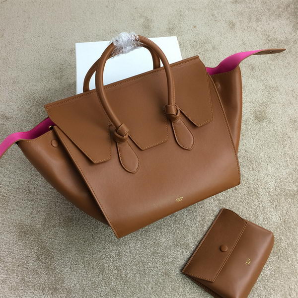 Celine Tie Top Handle Bags Original Leather 98314 Wheat