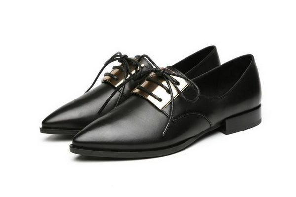 Alexander McQueen Sheepskin Leather Casual Shoes MCQ244 Black