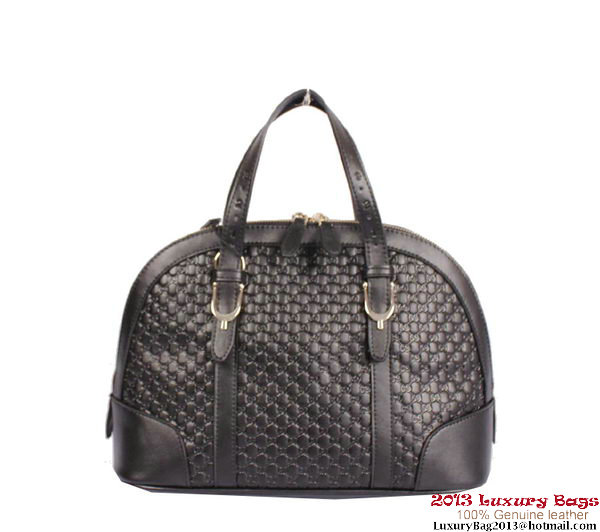Gucci Nice Small Microguccissima Top Handle Bag 309617 Black