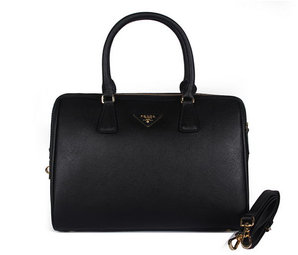 PRADA Saffiano Leather Two Handle Bag BN2780 Black