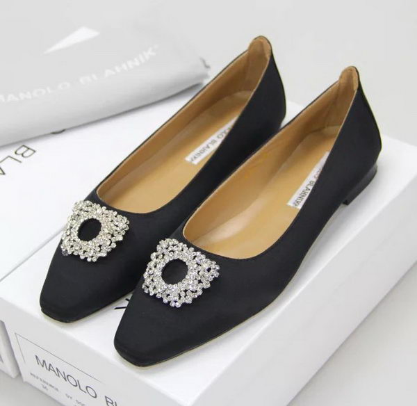 Manolo Blahnik Ballerina Satin Canvas MB095 Black