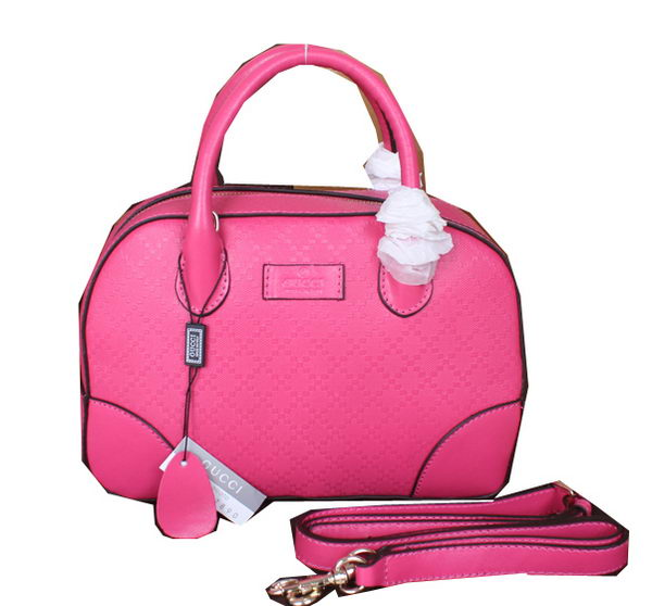 Gucci Bright Diamante Leather Top Handle Bags 354224 Rose