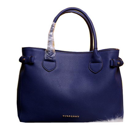 BurBerry Tote Bag Calfskin Leather 3926101 Royal