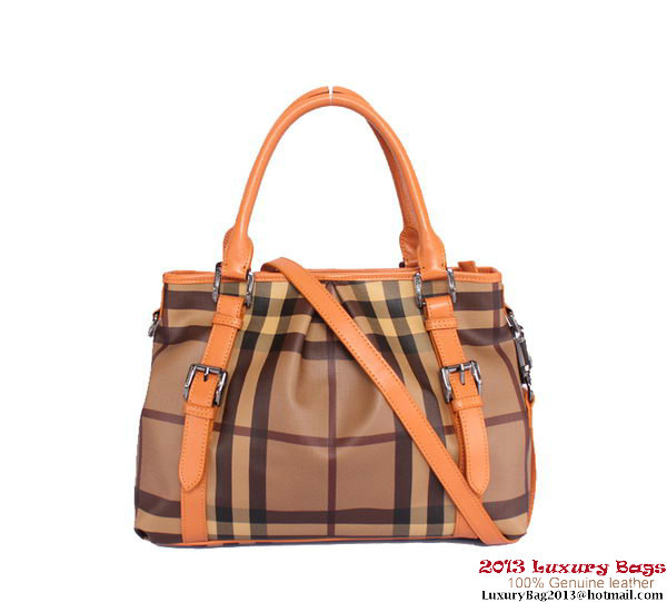 BurBerry Small House Check Tote Bag 24677 Orange