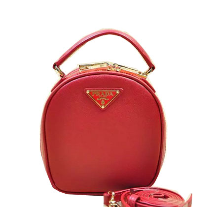 Prada Saffiano Leather Hobo Bag BL8896 Red