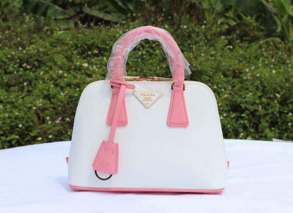 Prada Saffiano Leather Two Handle Bag BL0838P White