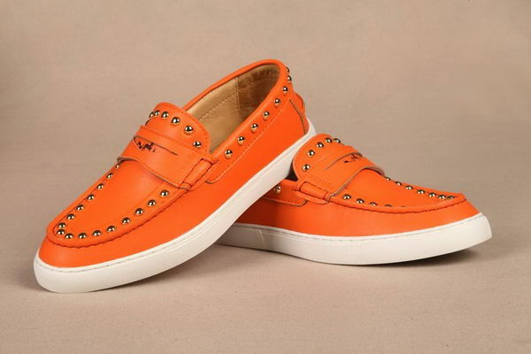 Hermes Spike Men Flat HO0332 Orange