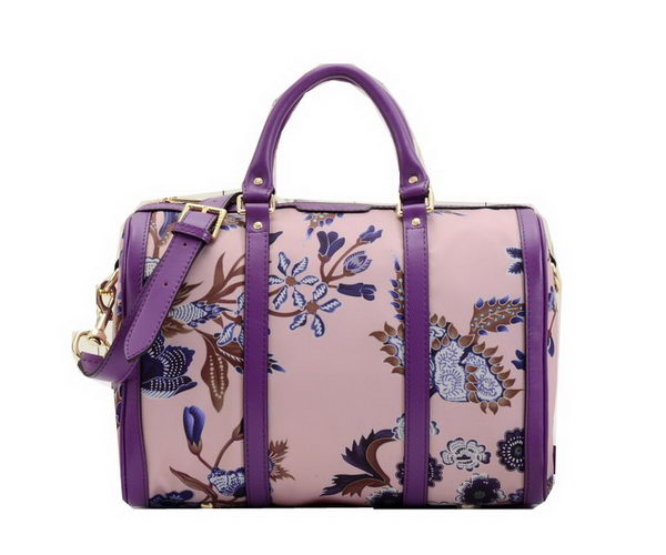 Gucci Vintage Camouflage Leather Boston Bag 247205 Purple