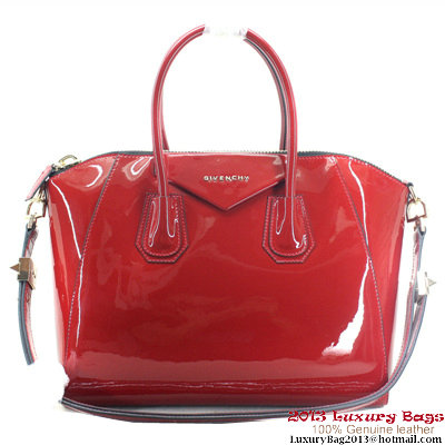 Givenchy Large Antigona Bag Patent Leather 9981 Dark Red