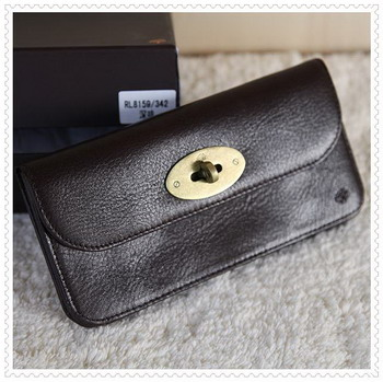 Mulberry Cowskin Leather Wallet Dark Coffee 312037