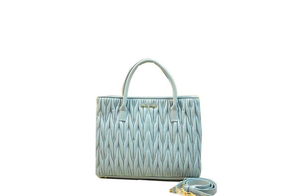 miu miu Matelasse Nappa Leather Tote Bag RN1047 Light Blue