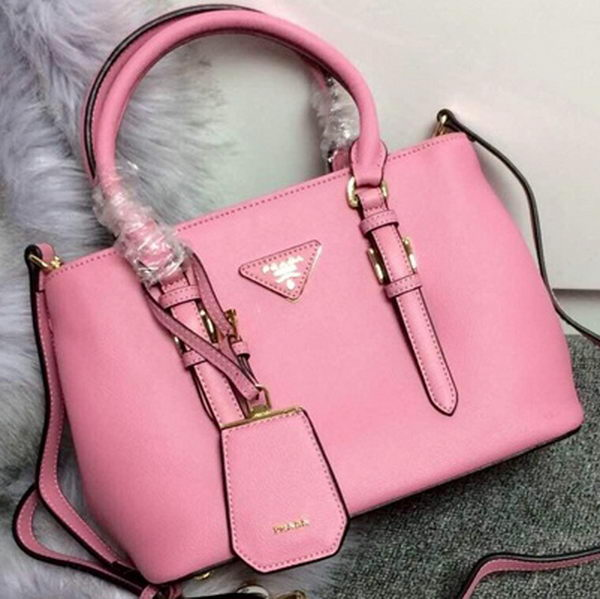 Prada Calfskin Leather Tote Bag BN1801S Pink
