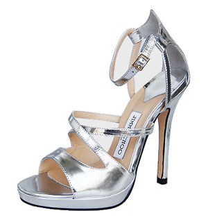 2010 New Fashion Jimmy Choo Sliver leather Sandals