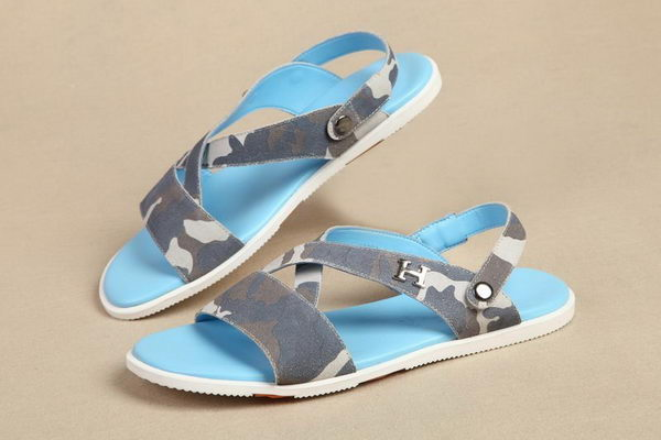 Hermes Suede Leather Sandals HO0317 Blue
