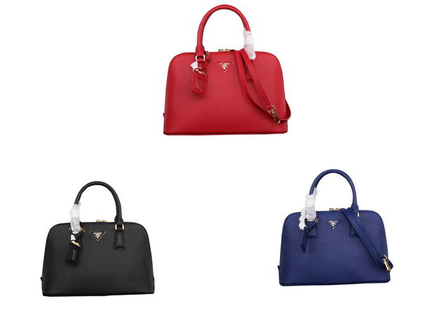 Prada Grainy Leather Top Handle Bag BL0837
