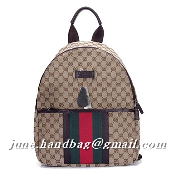 Gucci GG Fabric Medium Backpack 190278 Coffee