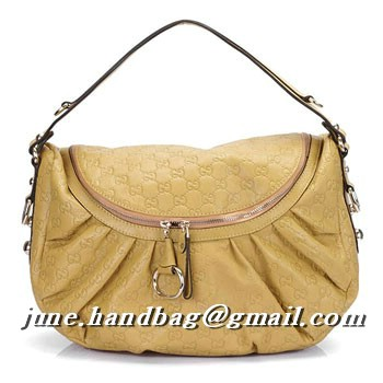 Gucci Icon Bit Guccissima Leather Shoulder Bag 228584 Yellow